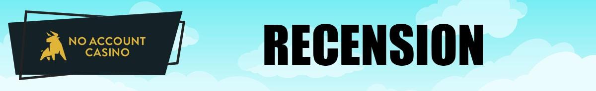 No Account Casino-recension